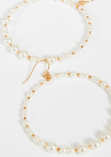 Chan Luu Imitation Pearl Hoop Earrings