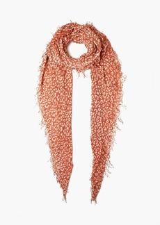 Chan Luu Leopard Print Cashmere Silk Scarf