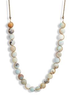 Chan Luu Matte Multicolor Amazonite Adjustable Necklace