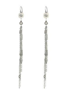 Chan Luu Metal Fringe Earrings with Crystals