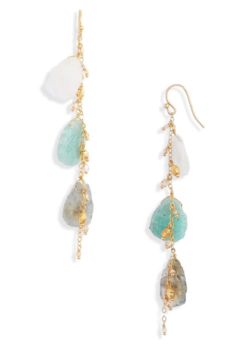 Chan Luu Mix Stone Drop Earrings