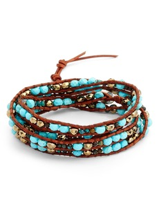 Chan Luu Mixed Semiprecious Stone Wrap Bracelet