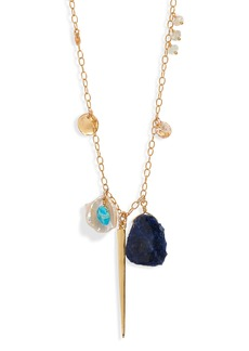 Chan Luu Mixed Stone Dagger Charm Necklace