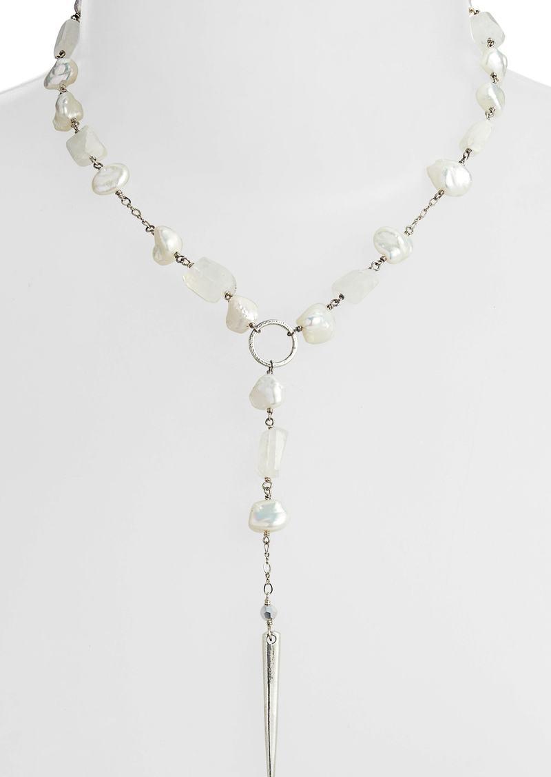 Chan Luu Mixed Stone Dagger Pendant Necklace