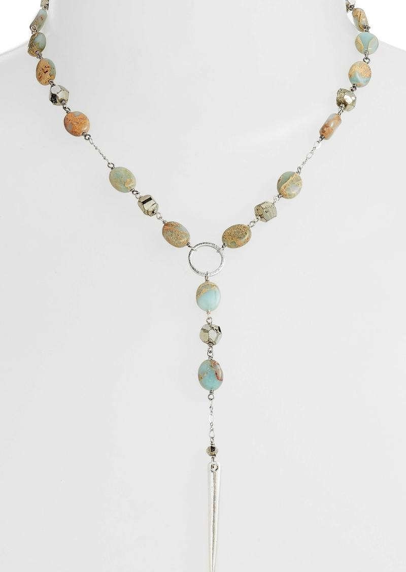 Chan Luu Mixed Stone Dagger Pendant Necklace