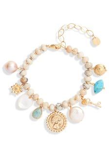 Chan Luu Multi Charm Bracelet