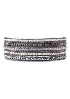 Chan Luu Multi-Row & Stone Wrap Bracelet in 18K Gold-Plated Sterling Silver or Sterling Silver