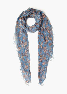 Chan Luu Painterly Floral Cashmere Silk Scarf
