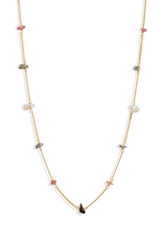 Chan Luu Pearl & Bead Station Necklace