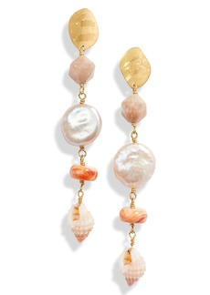 Chan Luu Pearl & Shell Drop Earrings