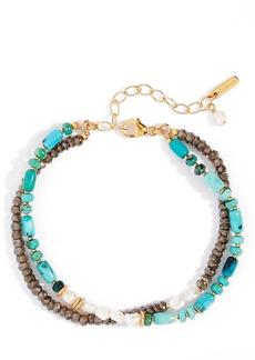 Chan Luu Pearl & Stone Double Strand Bracelet
