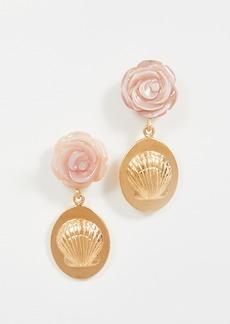 Chan Luu Pink Rose Drop Earrings