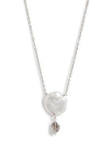Chan Luu Quartz & Pearl Pendant Necklace