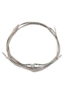 Chan Luu Rainbow Agate & Leather Wrap Bracelet/Choker