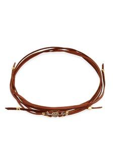 Chan Luu Rose Gold Agate & Leather Choker