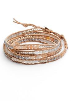 Chan Luu Semiprecious Stone & Leather Wrap Bracelet