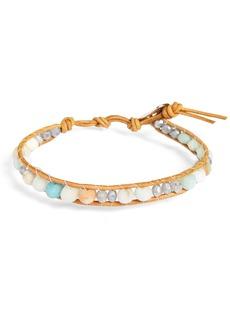 Chan Luu Semiprecious Stone Leather Bracelet