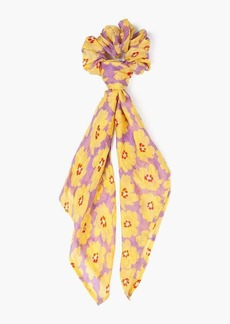Chan Luu Silk Floral Printed Neckerchief w/ Scrunchie