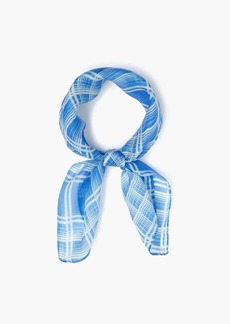 Chan Luu Silk Summer Plaid Neckerchief