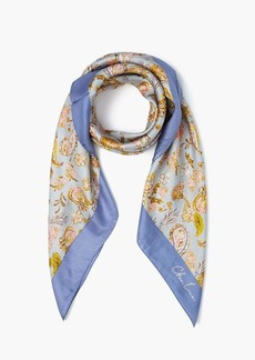 Chan Luu Silk Twill Dancing Fall Paisley Oversized Neckerchief