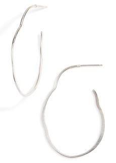 Chan Luu Small Hammered Sterling Silver Hoop Earrings