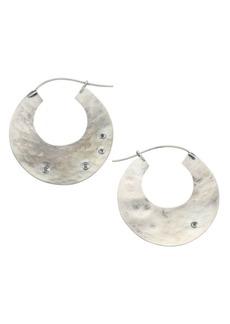 Chan Luu Sterling Silver & Champagne Diamond Hoop Earrings
