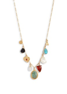 Chan Luu Stone & Pearl Charm Necklace