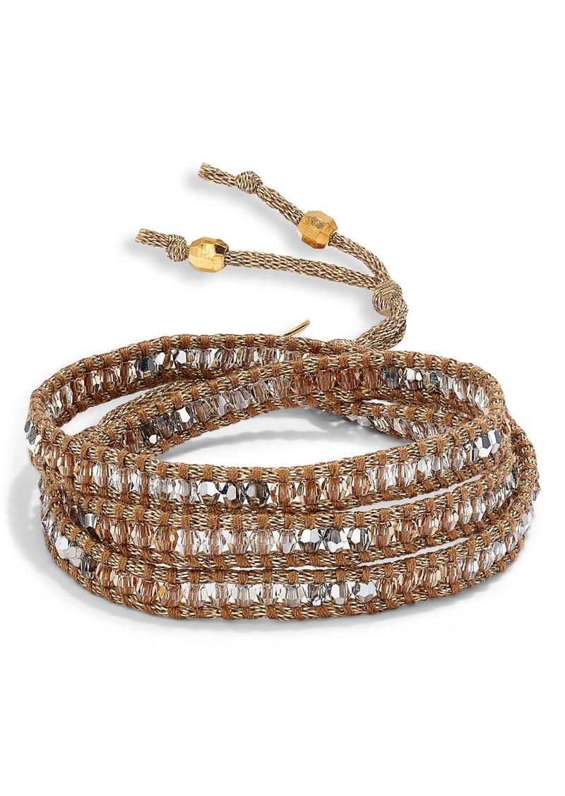 Chan Luu Swarovski Crystal 3-Wrap Bracelet