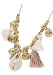 Chan Luu Tasseled Gold-tone Shell Earrings gmAk3Bwwl
