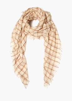 Chan Luu Three Color Plaid Wool Scarf