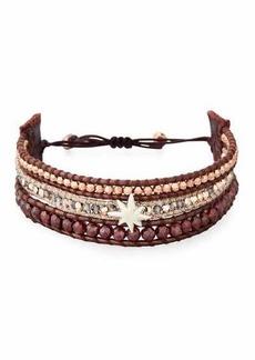Chan Luu Three-Strand Pull-Tie Bracelet in Dark Red