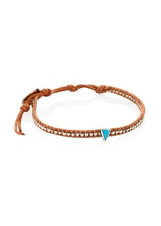 Chan Luu Turquoise, Sterling Silver & Leather Bracelet