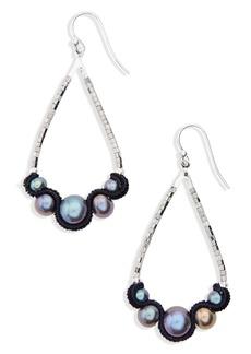 Chan Luu Velvet & Pearl Drop Earrings