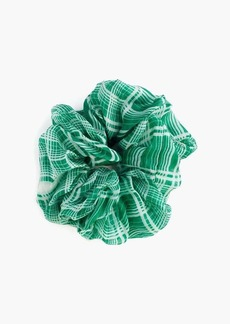 Chan Luu Voloptuous Silk Plaid Scrunchie