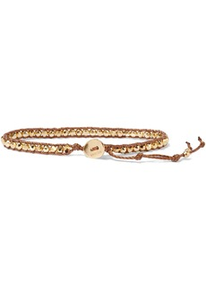 Chan Luu Woman 18-karat Gold-plated Sterling Silver Bead And Cord Bracelet Gold
