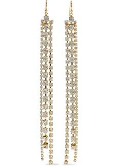 Chan Luu Woman 18-karat Gold-plated Sterling Silver Crystal Earrings Clear