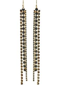 Chan Luu Woman 18-karat Gold-plated Sterling Silver Crystal Earrings Navy