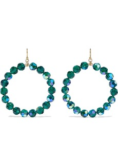 Chan Luu Woman 18-karat Gold-plated Sterling Silver Crystal Hoop Earrings Emerald