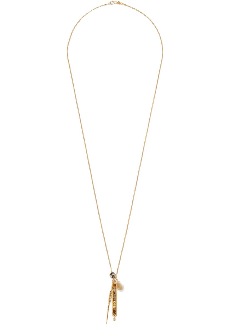Chan Luu Woman 18-karat Gold-plated Sterling Silver Multi-stone Necklace Gold