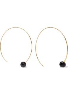 Chan Luu Woman 18-karat Gold-plated Sterling Silver Onyx Hoop Earrings Gold