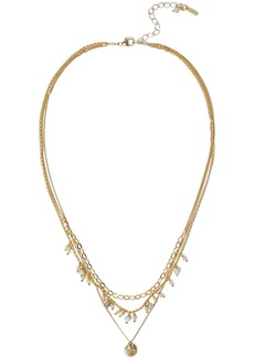 Chan Luu Woman 18-karat Gold-plated Sterling Silver Pietersite And Spinel Necklace Ivory