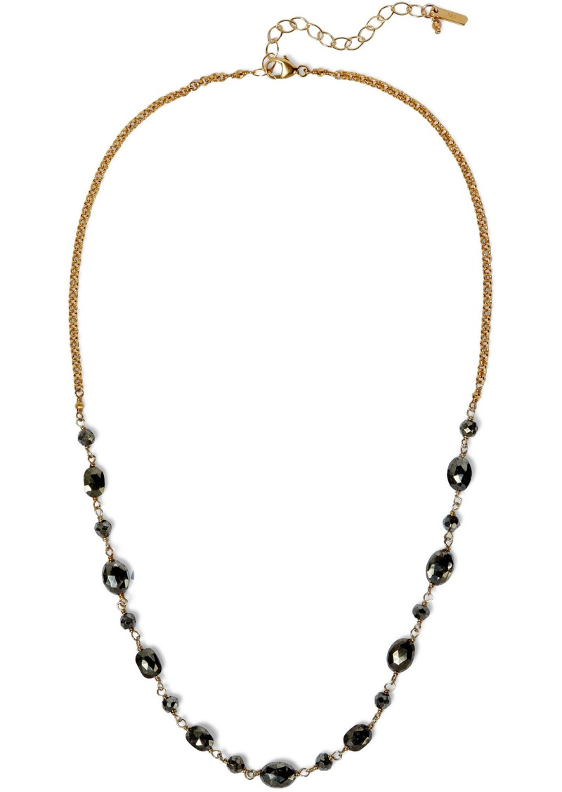 Chan Luu Woman Gold-tone Pyrite Necklace Gold