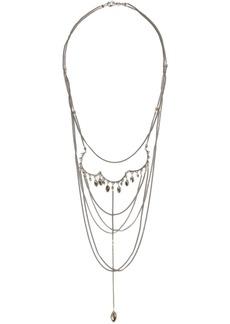 Chan Luu Woman Oxidized Silver-tone Crystal Necklace Silver