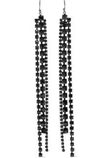 Chan Luu Woman Sterling Silver Crystal Earrings Gunmetal