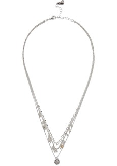 Chan Luu Woman Sterling Silver Onyx And Moonstone Necklace Silver