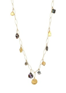 Chan Luu Citrine & Mixed Stone Charm 18K Goldplated Sterling Silver Long Necklace