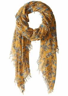 Chan Luu Floral Cashmere Silk Scarf