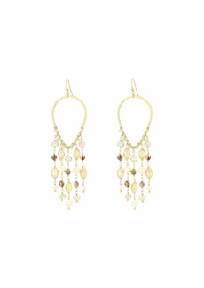 Chan Luu Gold Chandelier Earrings with Crystals