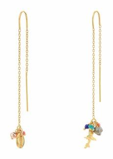 Chan Luu Gold Multi Thread Through Earrings