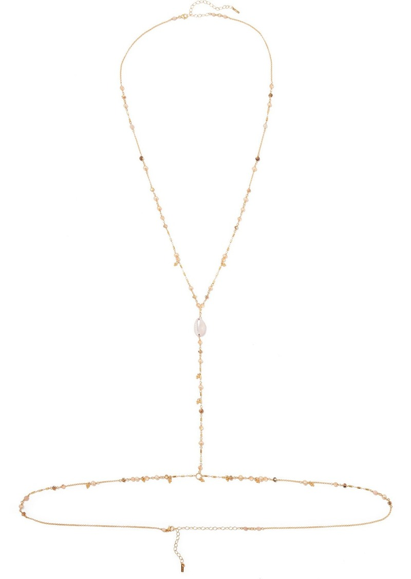 Chan Luu Gold-tone, Shell And Mother-of-pearl Body Chain